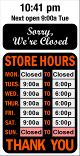Business Hours on Online Open Sign