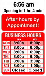 Business Hours for Pioneer%20Repair%20Center