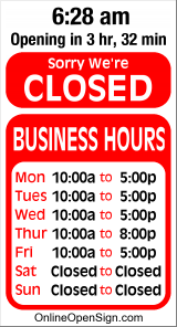 Business Hours for Floor%20Country%20Canada
