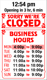 Business Hours for Pizzarelli%27s%20Pizzeria