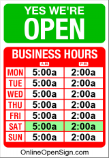 Business Hours for Tre%20Today