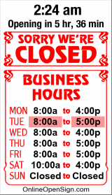 Business Hours for Bath%20and%20Body%20Creations