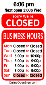 Business Hours for BPOE%20Lodge%202634