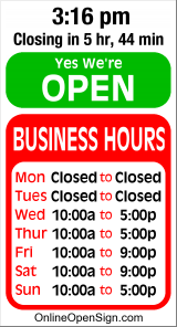 Business Hours for Hilah%20Ayers%20Wilderness%20RV%20Park