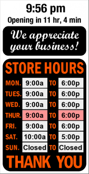 Business Hours for Parcel%20Post%20Plus