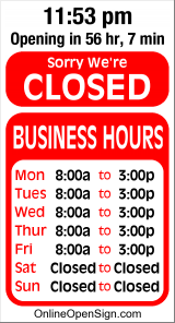 Business Hours for KARTMA%20Street%20Cafe