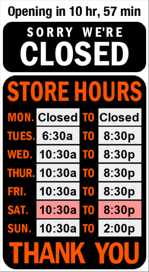 Business Hours for NB%20Craft%20Brewers%27%20Market