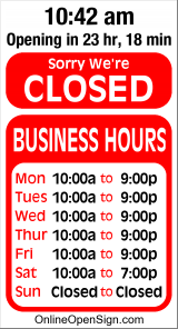 Business Hours for Outet%20Barks