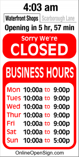 Business Hours for Outer%20Barks