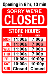 Business Hours for Exit%20190%20Beer%20Deli