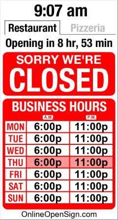 Business Hours for Isola%20Restaurant