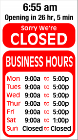 Business Hours for Mr%20Wheelchair