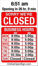 Business Hours for Edible%20Bouquets