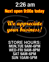 Business Hours for CREATURE%20COMFORT%20PET%20EMPORIUM
