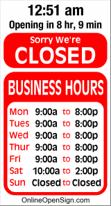 Business Hours for Reliable%20Chimes%2C%20Inc