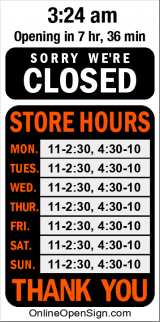 Business Hours for Sushi%20Coast