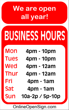 Business Hours for Rigby%27s%20Grill