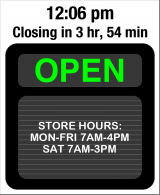 Business Hours for The%20Big%20Timber%20Shed
