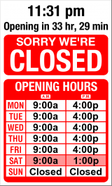 Business Hours for A%26S%20Appliance