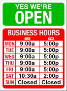 Basic Hours Sign